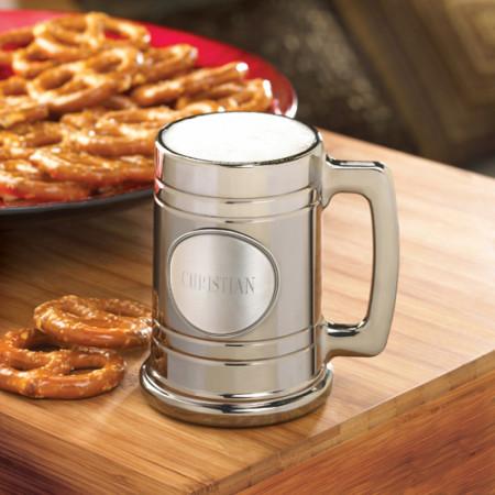 Personalized Metallic Custom Beer Mug