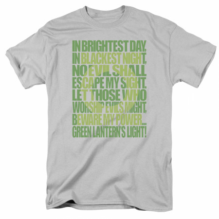 Green Lantern Oath Men's Grey T-Shirt
