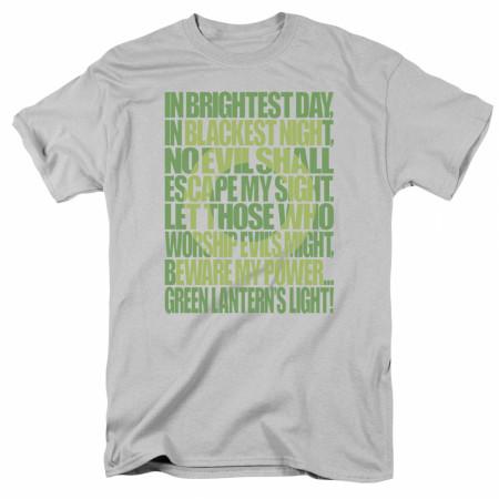 Green Lantern Oath Men's Grey T-Shirt