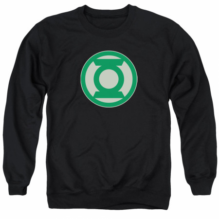 Green Lantern Logo Men's Black Crewneck Sweatshirt