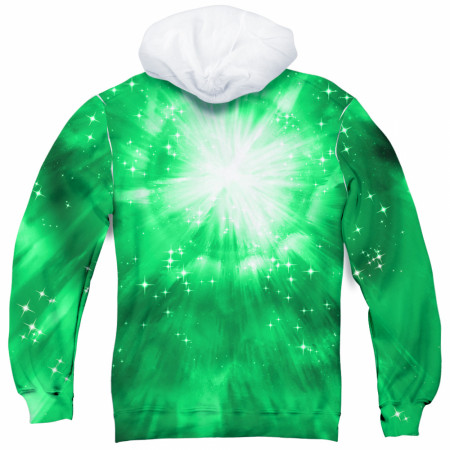 Green Lantern All Over Print Men's Green Hoodie