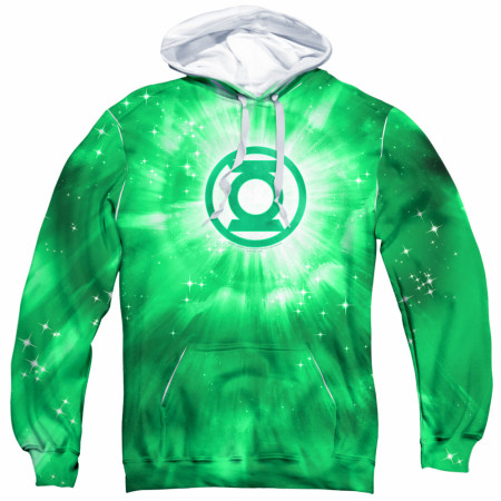 Green Lantern All Over Print Men's Green Hoodie