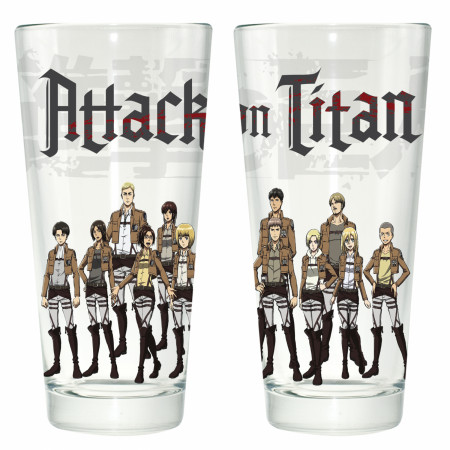 Attack on Titan Group Pint Glass