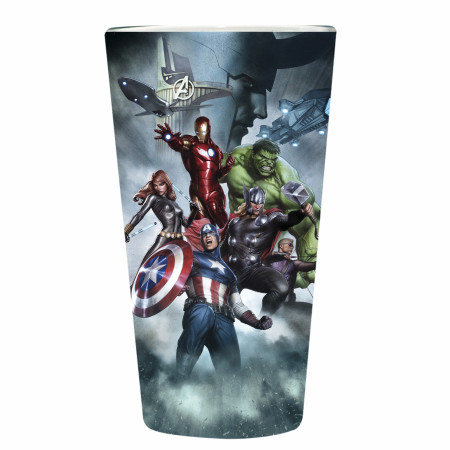 Avengers Group Pint Glass