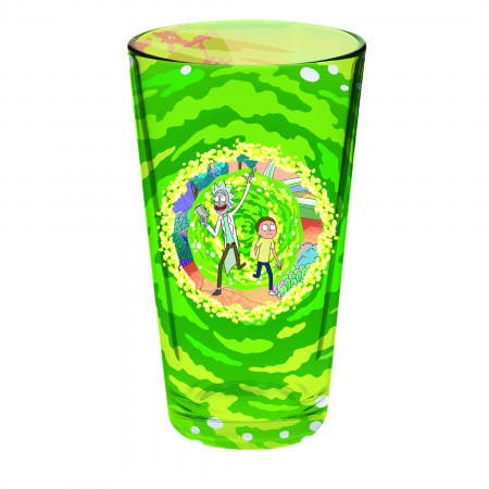 Rick and Morty Portal Decal Wrapped Pint Glass