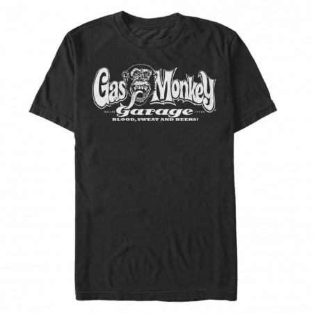 Gas Monkey Garage Blood Sweat Beers Black Tshirt
