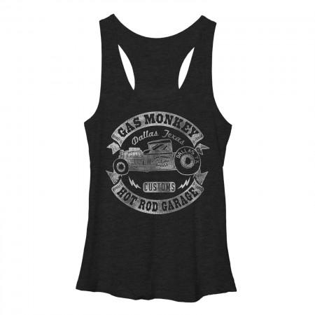 Gas Monkey Garage Banner Finish Black Heather Juniors Tank Top