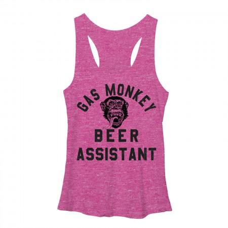 Gas Monkey Garage Beer Assistant Pink Juniors Tank Top