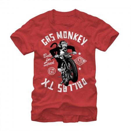 Gas Monkey Garage Moto Red T-Shirt