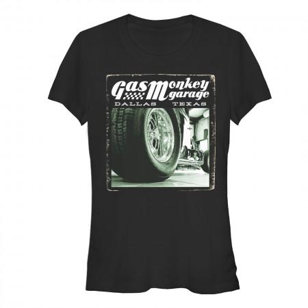 Gas Monkey Garage Rally Racer Black Juniors T-Shirt