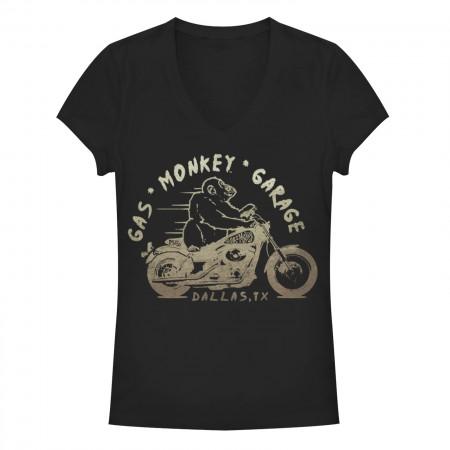 Gas Monkey Garage Vroom Black Juniors T-Shirt
