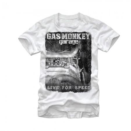 Gas Monkey Garage Super Charged White T-Shirt