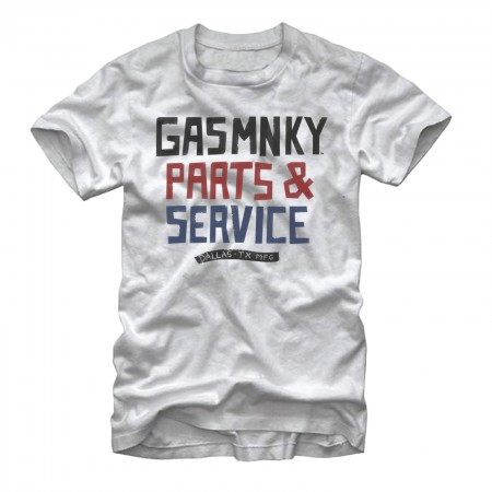 Gas Monkey Garage Parts And Service White T-Shirt