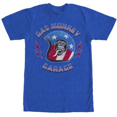 Gas Monkey Garage Stars Stripes Helmet Blue T-Shirt