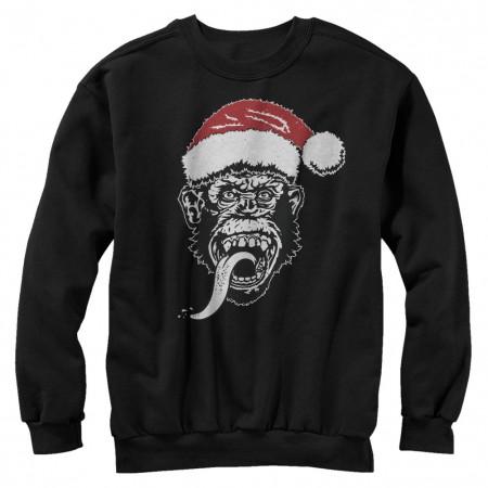 Gas Monkey Garage Santa Monkey Black Sweatshirt