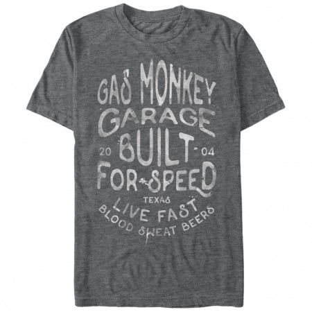 Gas Monkey Garage Droplets Gray T-Shirt