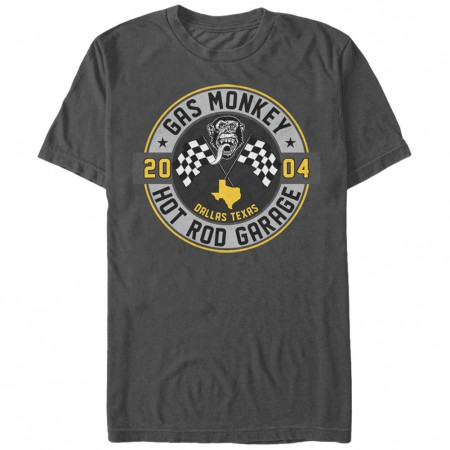 Gas Monkey Hot Rod Garage Gray T-Shirt