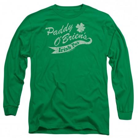 St. Patrick's Day Paddy O'Briens Irish Pub Green Long Sleeve T-Shirt