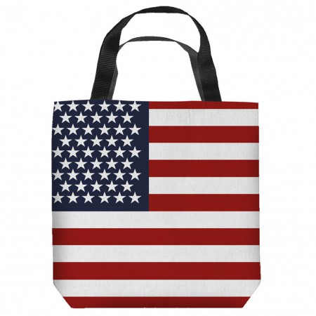 American Flag Patriotic Tote Bag