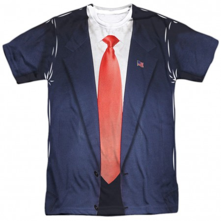 Presidential Blue Suit and Tie Men's Costume T-Shirt