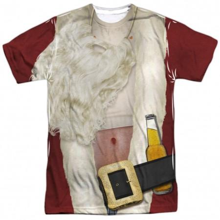 Bad Santa Drunken Christmas Costume Men's T-Shirt