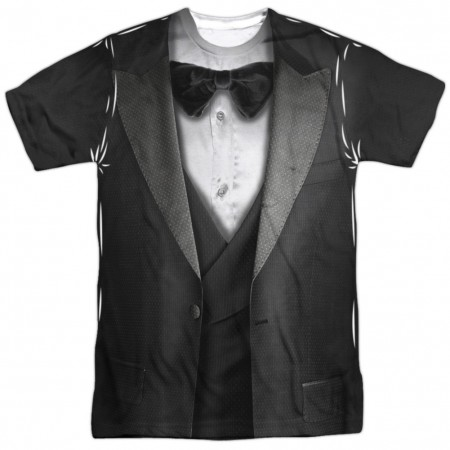 Tuxedo Front and Back Print Men's Costume T-Shirt