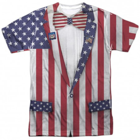 Patriotic Uncle Sam Suit Men's American Flag T-Shirt