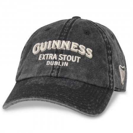 Guinness Extra Stout Faded Adjustable Black Hat