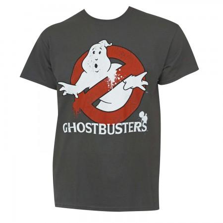 Ghostbusters Men's Grey Logo T-Shirt