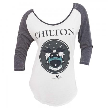 Gilmore Girls White And Grey Women's Raglan T-Shirt