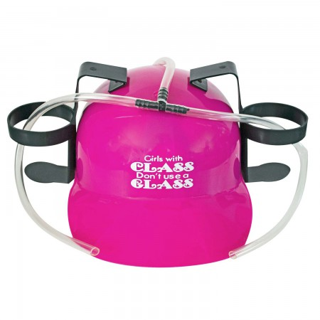 Girls With Class Don't Use A Glass Beer Drinking Hat