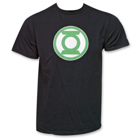 Green Lantern Logo Black T-Shirt