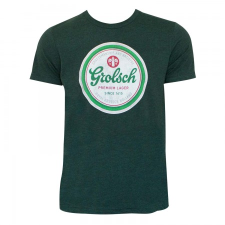 Grolsch Men's Green Bottle Cap Logo T-Shirt