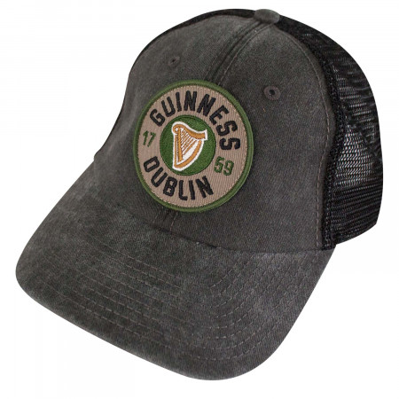 Guinness Black Dublin Logo Mesh Trucker Hat