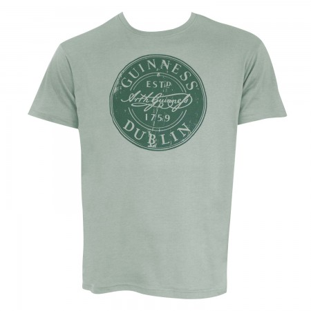 Guinness Men's Green Bottle Cap T-Shirt