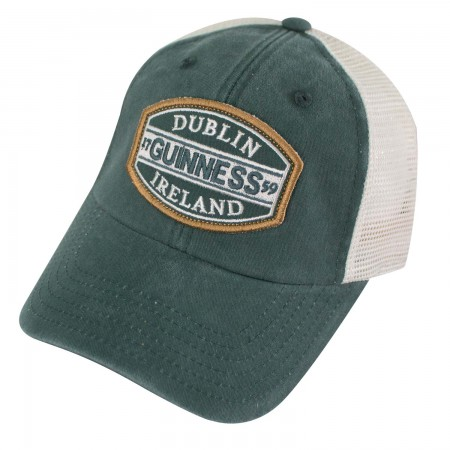 Guinness Dublin Ireland Mesh Green Mens Trucker Hat