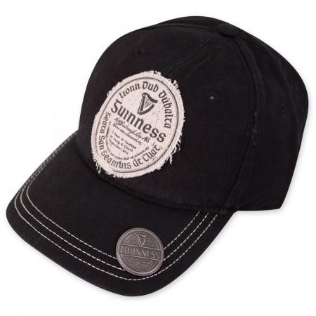 Guinness Gaelic Label Black Bottle Opener Hat