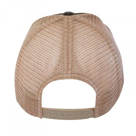 Guinness Harp Logo Brown Mesh Trucker Hat