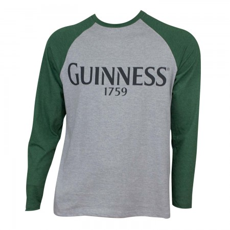 Guinness Men's Grey Baseball T-Shirt