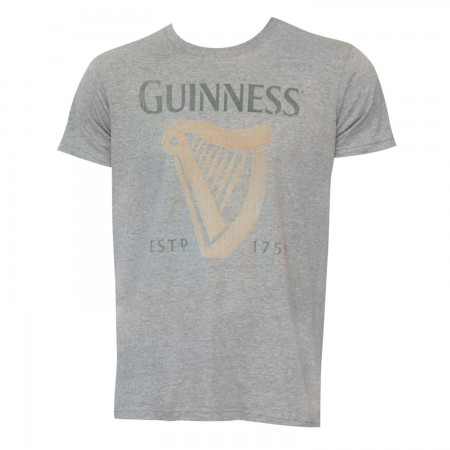 Guinness Beer Harp Logo Grey Shirt