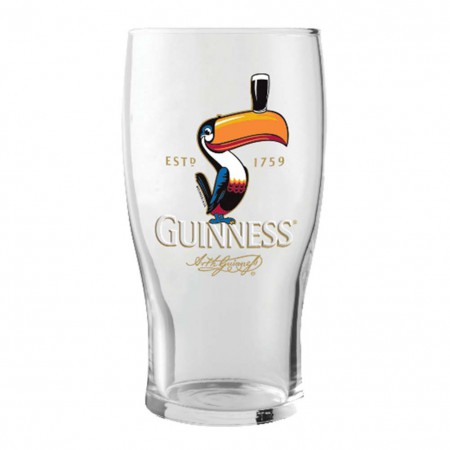 Guinness Est. 1759 Toucan 20oz. Pint Glass