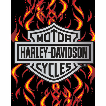 Harley Davidson Flames 54x68 Beach Towel