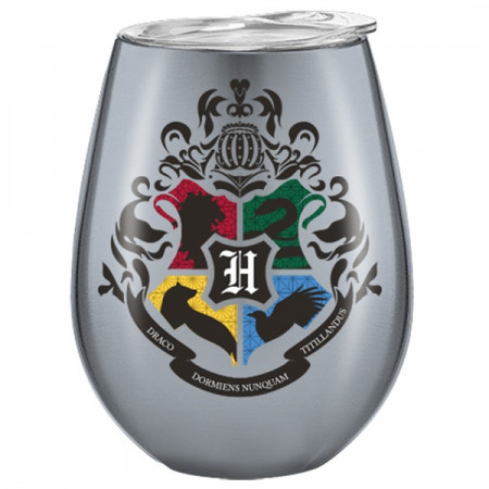 Harry Potter Hogwarts Crest Stainless Tumbler with Lid