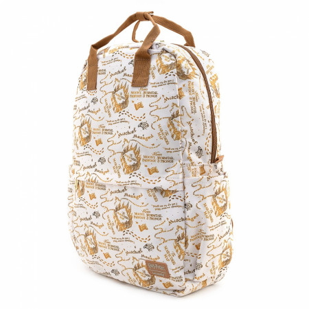 Harry Potter Marauder's Map All Over Print Nylon Backpack by Loungefly