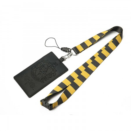 Harry Potter Striped Hufflepuff ID Lanyard