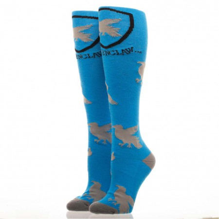 Harry Potter Women's Blue Knee High Ravenclaw Socks