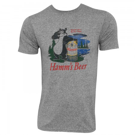 Hamm's Bear Logo Heather Grey Retro Brand Men's T-Shirt