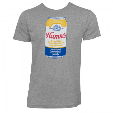 Hamm's Classic Can Logo Men's Grey T-Shirt