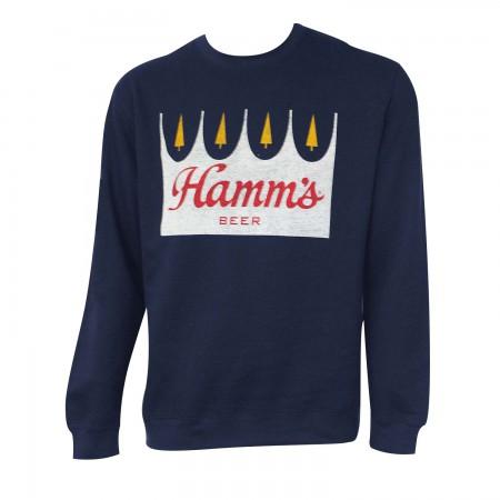 Hamm's Logo Navy Blue Crewneck Sweatshirt