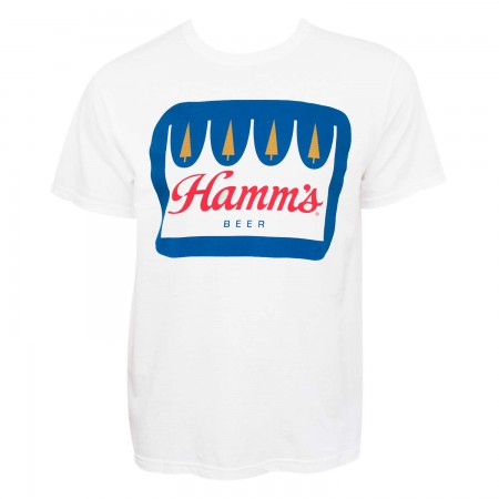 Hamm's Men's White Crown Logo T-Shirt
